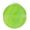Glass Pressed Beads 8mm Flat Round Green/Yellow Matt